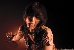 Yeah Yeah Yeahs - Karen O swallows mic (John Pee) Tags: camera people music toronto canada color colour rock digital photography concert nikon singing action live events d70s performance band sing indie concerts rocknroll gta 2009 alternative koolhaus liveconcert yeahyeahyeahs kareno artphotography chartattack johnpapamarko lastfm:event=1117478