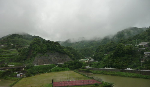 Hilly terrain outside Nagasaki