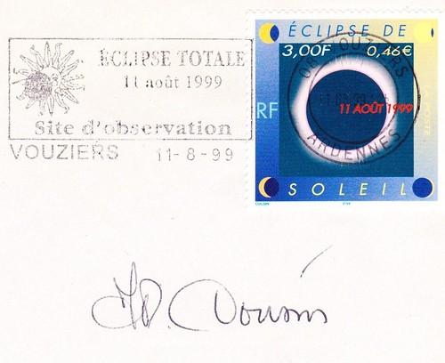 11 AOÛT 1999 / ECLIPSE TOTALE DU SOLEIL / VOUZIERS