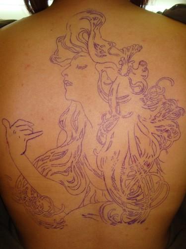 alphonse mucha tattoo. alphonse mucha tattoo