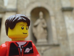 In front of church (Lordbrickman) Tags: life trip italy real lego fig siggy sigfig