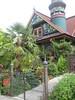 Nob Hill House (AGA~mum) Tags: palmtree turret carvings paintedlady victorianhome ornategates latinphrase queenannehillseattle nobhillinseattle quoampliuseoamplius