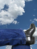 Enjoying A Moment (Viki Quinn) Tags: sky clouds sitting legs boots bluesky jeans relaxed beautifulday top20blue