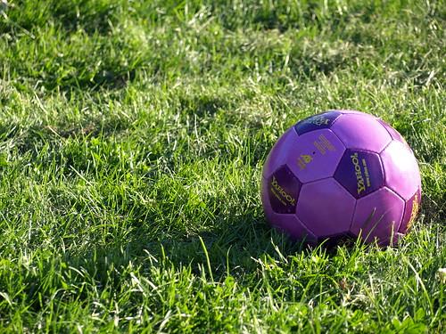 Yahoo purple soccer ball