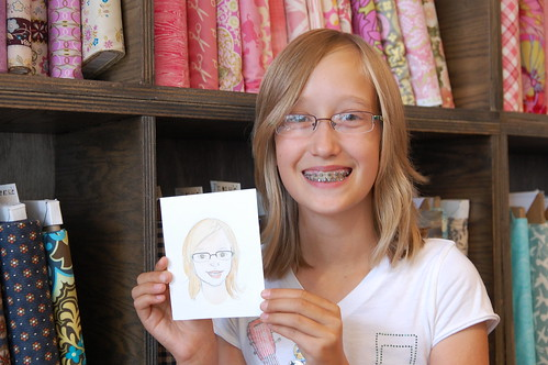 Ella & her portrait by Zeesy