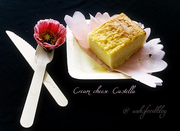 Cream cheese castella