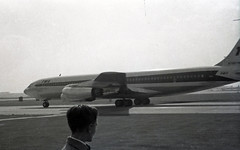 TWA 707 N766TW at Heathrow, London, 1960 (PhillipC) Tags: heathrow aeroplane boeing 707 twa 1960 boeing707 sgoodrich