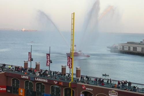 Fire Boat near AT&T Park