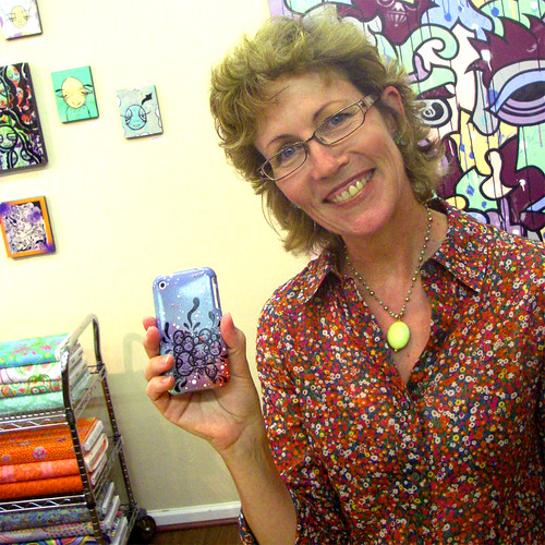 Happy Art Collector, handpainted iphone case