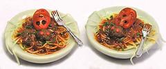 (tobacco9) Tags: food scale spider miniature italian handmade pasta spaghetti 112 meatballs dollhouse igma