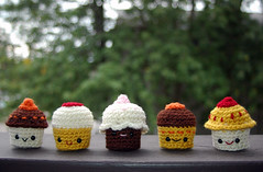cupcake set (callie callie jump jump) Tags: cute kids children toy cupcakes stuffed vermont handmade crochet yarn cupcake kawaii amigurumi