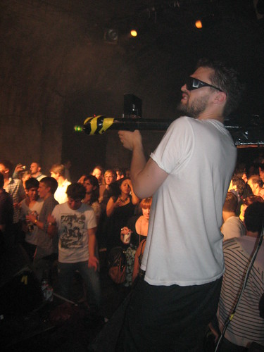 Kurt takes aim at the crowd in Shunt Lounge