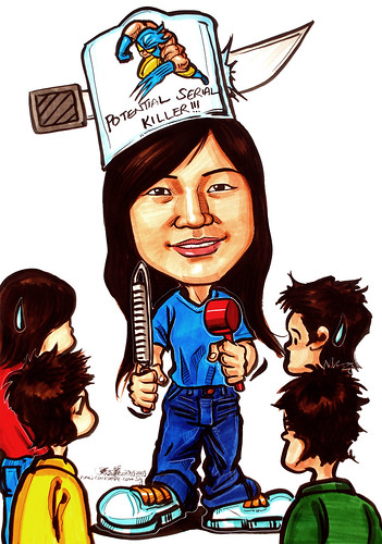 Birthday caricature 290909