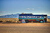 Ice cream bus (Jill and J) Tags: road blue sky mountains newmexico bus automobile jay desert coffeeshop icecream taos hdr riograndegorge eos500d