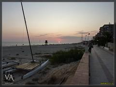 Sunset at Matalascaas / Atardecer (super wide angle version) (Trensamiro) Tags: sunset espaa beach atardecer lumix spain huelva wideangle playa panasonic paseo va matalascaas granangular maritimo tz7 zs3 trensamiro