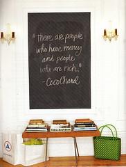 chalkboard square (miss kinch) Tags: entryway chic chalkboard foyer
