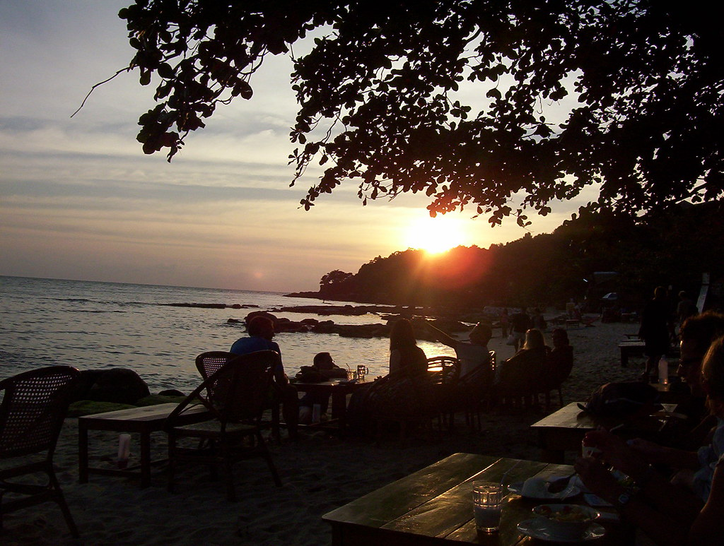 Serendipity Beach sunset, Sihanoukville