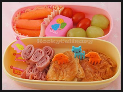 Kids Bento #88 - Croissant & Rolls