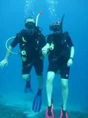Alex & Lizzy diving at Racha Yai