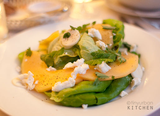 heirloom melon, boston bibb salad