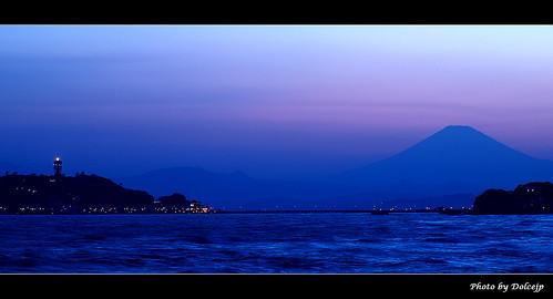 富士山(Mt.Fuji) & 江ノ島 @ 七里ヶ浜