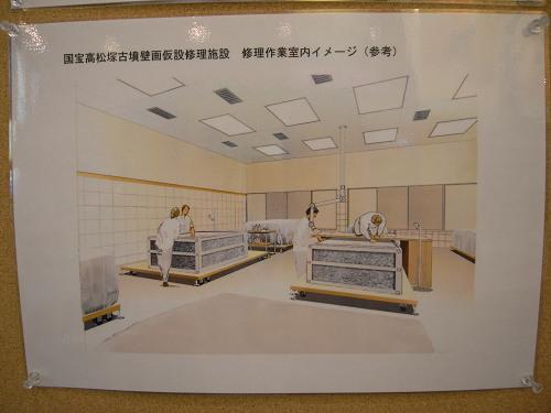 国宝高松塚古墳壁画修理作業室の公開-11