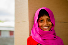 Naturally Jolly (Sheikh Shahriar Ahmed) Tags: street pink red portrait girl smile digital child little dhaka bangladesh banasree childportrait dhakadivision sheikhshahriarahmed