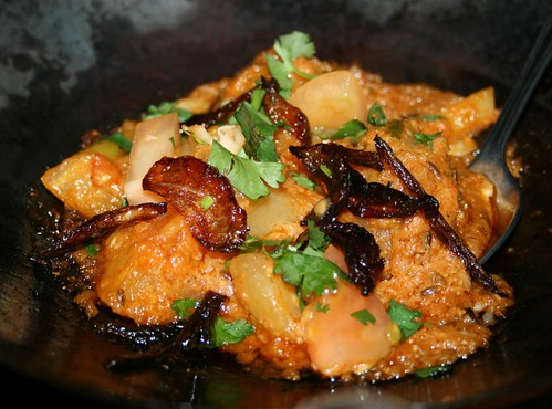 Tindi masala at New Tayyabs