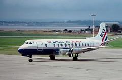 G-AOYM@Liverpool 05Aug84 (spotter tim) Tags: viscount britishairferries gaoym