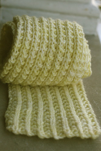 Scrunchable Scarf in Malabrigo 'Butter'