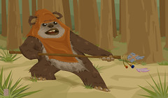 Wicket (dale_hayward) Tags: animals starwars dale illustrator hayward superheroes coloured vector dalehayward