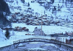 Uzungl K-Trabzon-Turkey (Sertac08) Tags: winter snow turkey foto trkiye dal ev su cami beyaz mavi trabzon kpr ky sper evler manzara gezi aa gl dere fotoraf gri doa ahap berrak uzungl akarsu