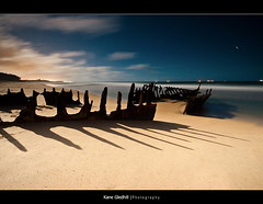 Skeleton Shadow ([ Kane ]) Tags: longexposure shadow sea moon beach water night clouds shadows ss explore qld kane caloundra ssdicky dicky gledhill kanegledhill humanhabits kanegledhillphotography