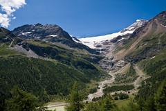 Piz Pal and Pal glacier (biologo) Tags: mountains alps water train switzerland glacier swissalps rhb graubnden pizpal berninarange centraleasternalps easternalps