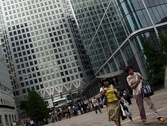 Docklands, London (Burçin YILDIRIM) Tags: street uk people woman london architecture shopping candid docklands