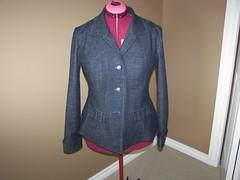 Finished jacket (SewFit) Tags: spring jean jacket naija s3628