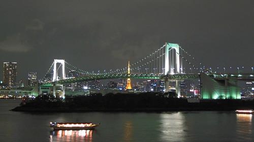彩虹大橋 & 東京鐵塔 夜景 - 台場