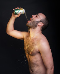 Daniel #10 (Fran Fatal) Tags: bear gay male home studio beard cub book daniel spanish nophotoshop macho barba pelo pecho grasa teatronegro bearswww