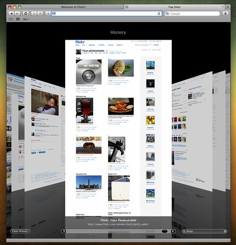 Safari 4 Historial coverflow