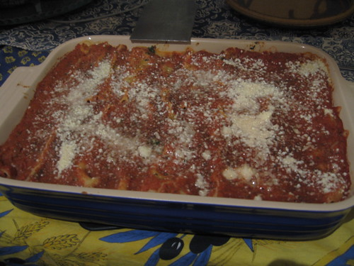 Spinach and Mushroom Cannelloni