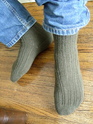 yarrow ribbed socks