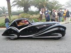 1936 Delahaye 135 Competitione Coupe at Amelia Island 2009 (gswetsky) Tags: art classic antique competition 135 deco concours coupe delahaye ameliaisland figoni falaschi