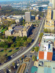 South Melbourne from 31 (rileyo) Tags: road buildings view rooftops parliament melbourne aerial eastmelbourne lonsdalest project365 casseldenplace