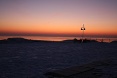 Sunrise (JanBlazekStudio) Tags: park morning travel blue winter summer vacation sky usa white lake art beach nature water lamp grass night clouds sunrise canon wow gold 1 photo shot little mark picture best 2009 worldphotographyday thebestof 40d yourphototipscom