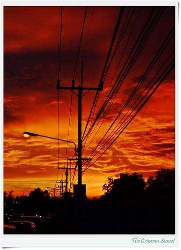 """The Crimson Sunset by friendsofarnon-II, on Flickr"""