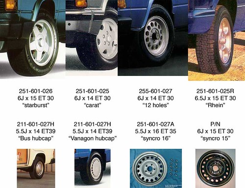 Vanagon Factory Alloy Wheels