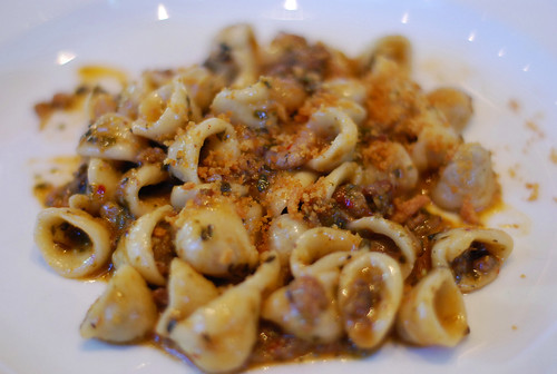 Orecchiette with sausage & Swiss chard