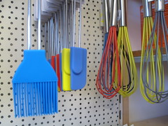 Silicone brushes, spatulas and whisks