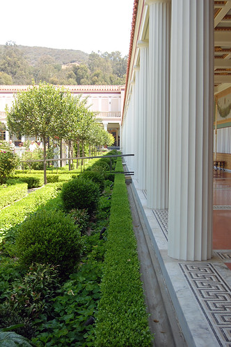 getty villa - columns
