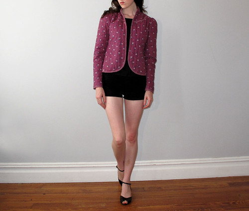vtg rose quilted jacket